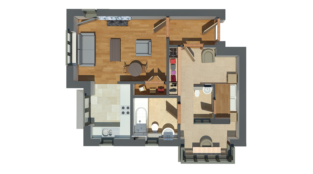 Architectural 3D Plan - Simple