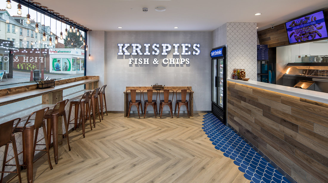 Krispies Fish And Chips Exmouth Devon Interiors Devon Interiors Commercial Residential